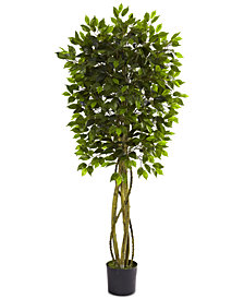 Nearly Natural 5.5' Ficus UV-Resistant Indoor/Outdoor Tree