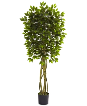 Nearly Natural 55 Ficus UvResistant IndoorOutdoor Tree
