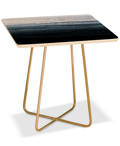 Deny Designs Monika Strigel Stormy Weather Gray Side Table