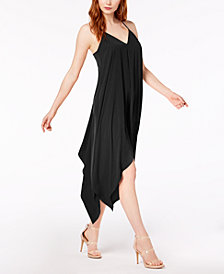 Bar III Sleeveless Handkerchief-Hem Dress, Created for Macy's