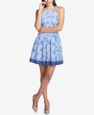 Guess Blue Chiffon Dress