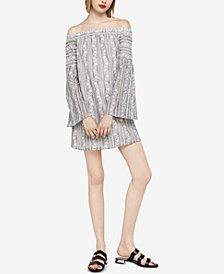 BCBGeneration Off-The-Shoulder Bell-Sleeve Lace Dress
