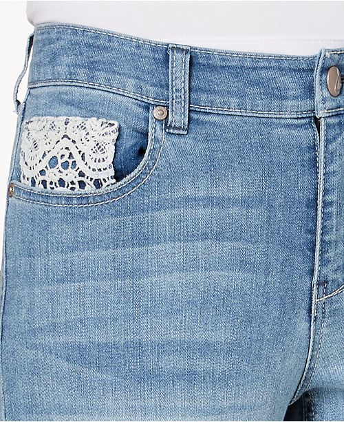 for Co Style Crochet Created Jeans Petite Acre Macy's Ankle Trim amp; Skinny 4qq5xSzw
