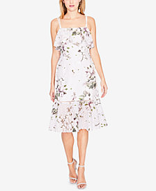 RACHEL Rachel Roy Floral-Print Ruffle Dress