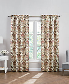 Hudson Hill Galla Damask-Print Rod Pocket Window Panels