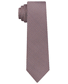 DKNY Men's Geometric Neat Slim Silk Tie