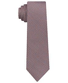 DKNY Men's Geometric Neat Slim Silk Tie