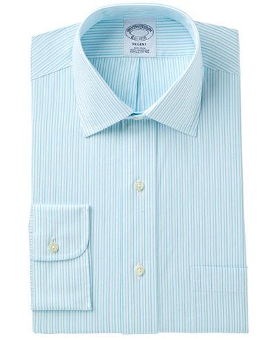 Brooks Brothers Men's Regent Classic/Regular Fit Non-Iron Pinpoint Stripe Dress Shirt