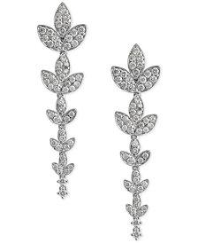 Diamond Flower Drop Earrings (2-1/6 ct. t.w.) in 14k White Gold