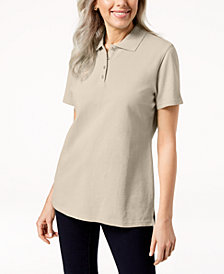 Karen Scott Short-Sleeve Polo Top In Regular & Petite Sizes, Created  for Macy's