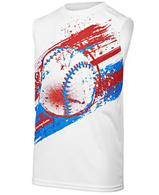Champion Baseball-Print Tank, Little Boys