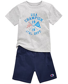 Champion 2-Pc. Cotton T-Shirt & Shorts Set, Toddler Boys