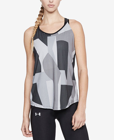 Under Armour Speed Stride Printed Strappy-Back Tank Top
