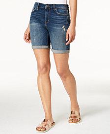 Calvin Klein Jeans City Ripped Denim Shorts