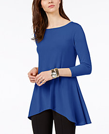 Alfani Petite High-Low Jersey Tunic Top, Created for Macy's