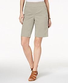 Petite Pull-On Comfort-Fit Bermuda Shorts, Created for Macy's