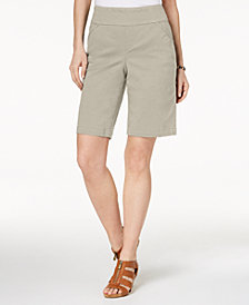 Style & Co Petite Pull-On Comfort-Fit Bermuda Shorts, Created for Macy's