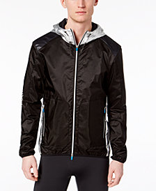 A|X Armani Exchange Men's Metallic Hooded Windbreaker