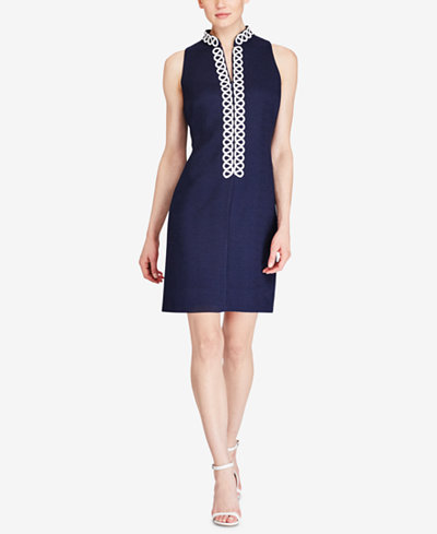 American Living Jacquard Sheath Dress