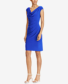 Lauren Ralph Lauren Stretch Cowlneck Dress