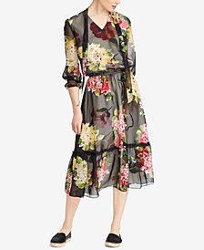 Lauren Ralph Lauren Floral-Print Tie-Neck Dress