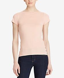 Ribbed Cotton T-Shirt
