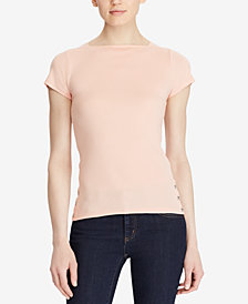 Lauren Ralph Lauren Ribbed Cotton T-Shirt