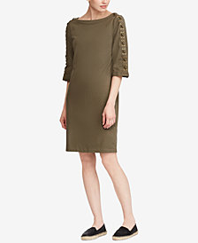 Lauren Ralph Lauren Lace-Up Cotton Dress