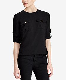 Lauren Ralph Lauren Crepe Long-Sleeve Tunic