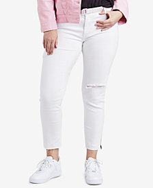 Levi's® Plus Size 711 Ripped Skinny Ankle Jeans