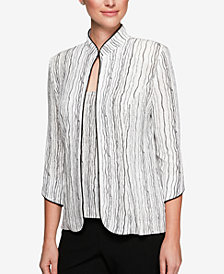 Alex Evenings Petite Printed Embellished Jacket & Shell