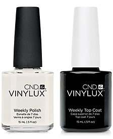 Creative Nail Design Vinylux Studio White Nail Polish & Top Coat (Two Items), 0.5-oz., from PUREBEAUTY Salon & Spa