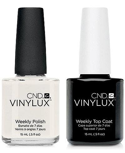 Creative Nail Design Vinylux Studio White Nail Polish & Top Coat (Two Items), 0.5-oz., from PUREBEAUTY Salon & Spa