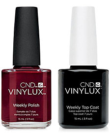 Creative Nail Design Vinylux Scarlet Letter Nail Polish & Top Coat (Two Items), 0.5-oz., from PUREBEAUTY Salon & Spa