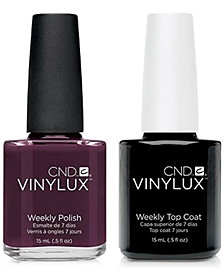 Creative Nail Design Vinylux Fedora Nail Polish & Top Coat (Two Items), 0.5-oz., from PUREBEAUTY Salon & Spa