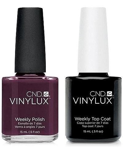 Creative Nail Design Vinylux Fedora Nail Polish & Top Coat (Two Items), 0.5-oz., from PUREBEAUTY Salon & Spa
