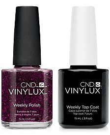 Creative Nail Design Vinylux Poison Plum Nail Polish & Top Coat (Two Items), 0.5-oz., from PUREBEAUTY Salon & Spa
