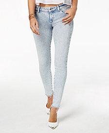 GUESS Raw-Hem Skinny Jeans
