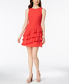 Vince Camuto Ruffled Shift Dress