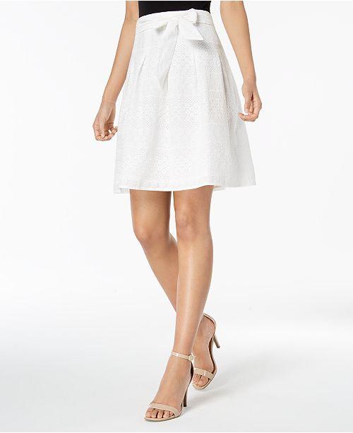 495a8b256b761 Nine West Eyelet Lace A-Line Skirt   Reviews - Skirts - Women - Macy s