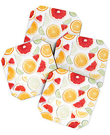 Deny Designs Ingrid Beddoes Citrus Fresh Coaster Set