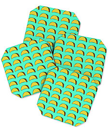 Deny Designs Leah Flores Taco Party Coaster Set