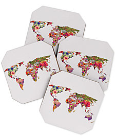 Deny Designs Bianca Green Its Your World Coaster Set