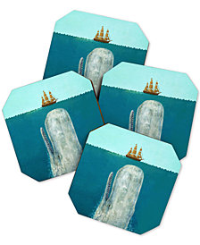Deny Designs Terry Fan The Whale Coaster Set