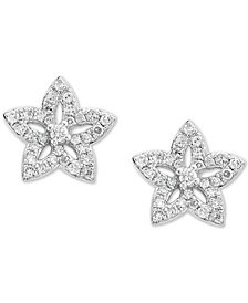 EFFY Kidz® Children's Diamond Flower Stud Earrings (1/5 ct. t.w.) in 14k White Gold