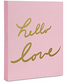 """Deny Designs Lisa Argyropoulos Hello Love Pink Art Canvas 24 x 30"""""""