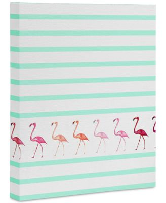 Monika Strigel Mini Flamingo Walk Art Canvas 8x10""
