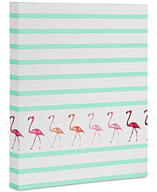 "Deny Designs Monika Strigel Mini Flamingo Walk Art Canvas 16x20"""