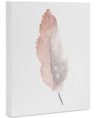 "Wonder Forest Freedom Feather Art Canvas 8x10"""