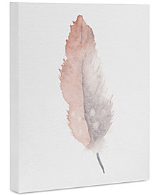 Deny Designs Wonder Forest Freedom Feather Art Canvas 8x10""